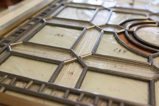 工程.5 ケイム(鉛線)をガラスに組み入れる